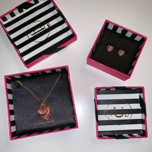 Juicy couture jewelry - earring and necklace